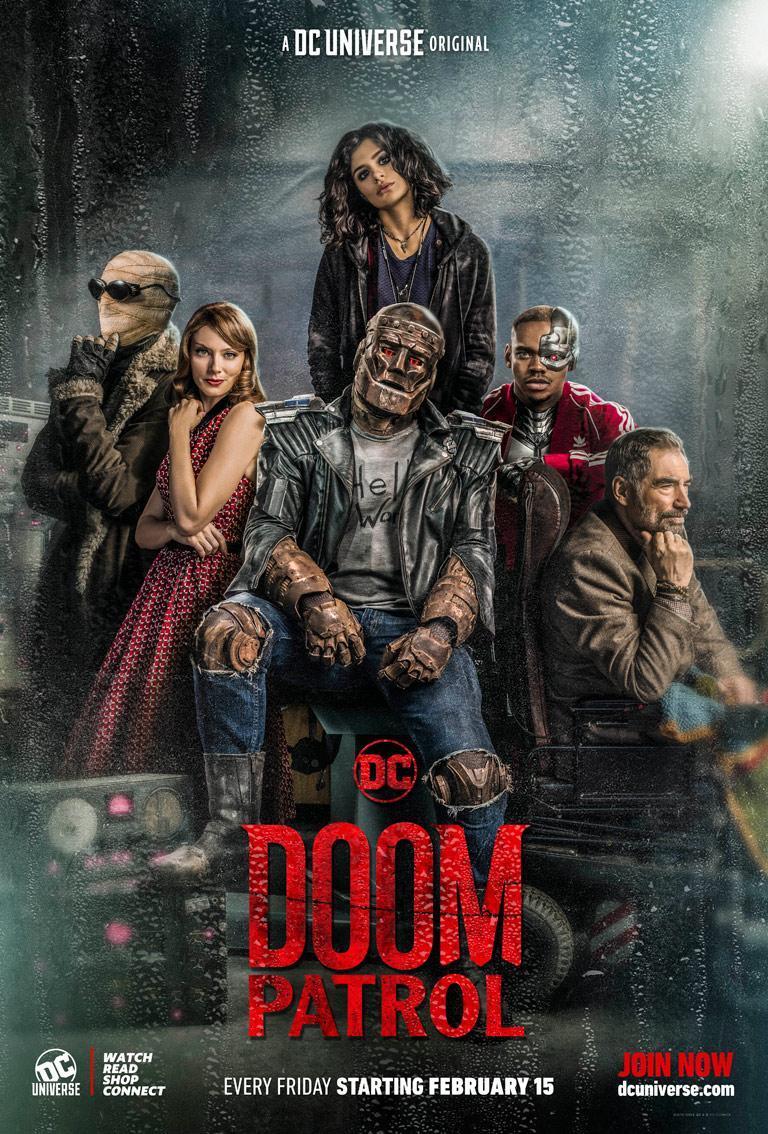 Póster de Doom Patrol en DC Universe. Imagen: dccomics.com
