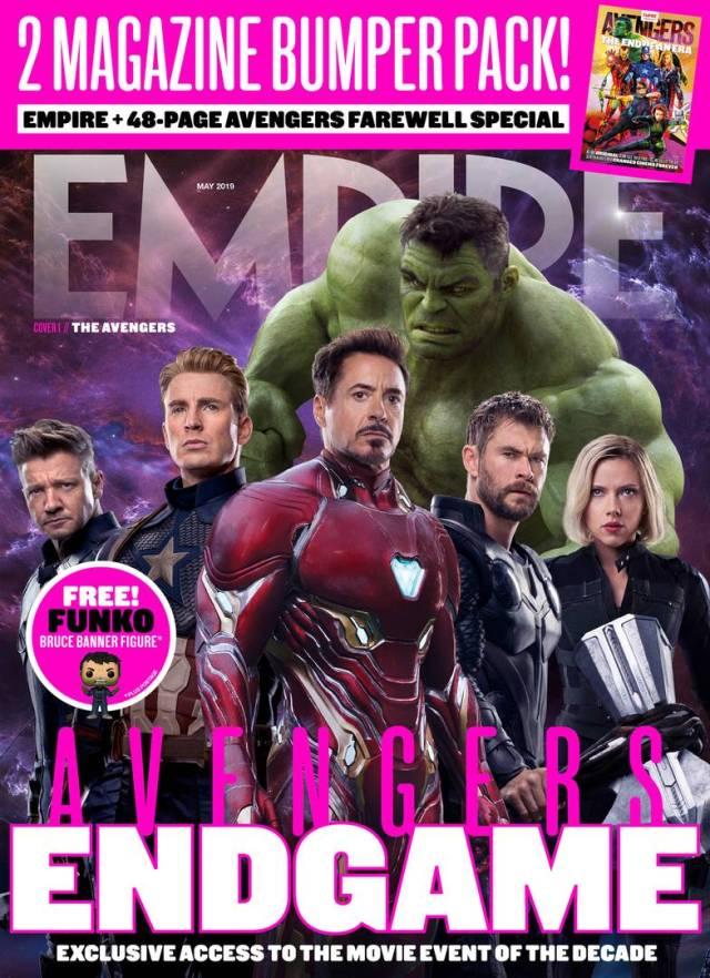 Los Avengers en la Portada 1 de Empire (mayo de 2019). Imagen: Empire Magazine