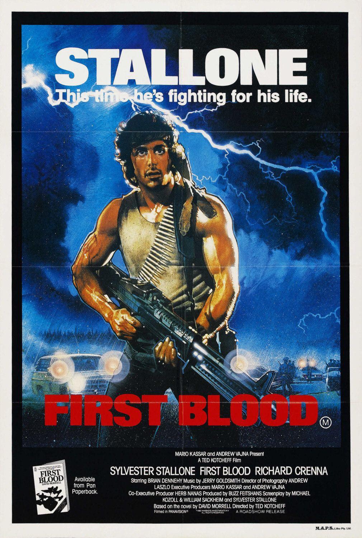 Póster de First Blood (1982). Imagen: impawards.com