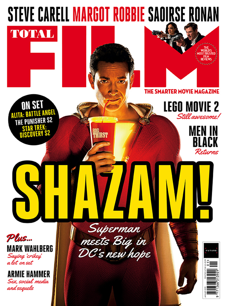 Zachary Levi como Shazam en la portada de Total Film. Imagen: Total Film Magazine