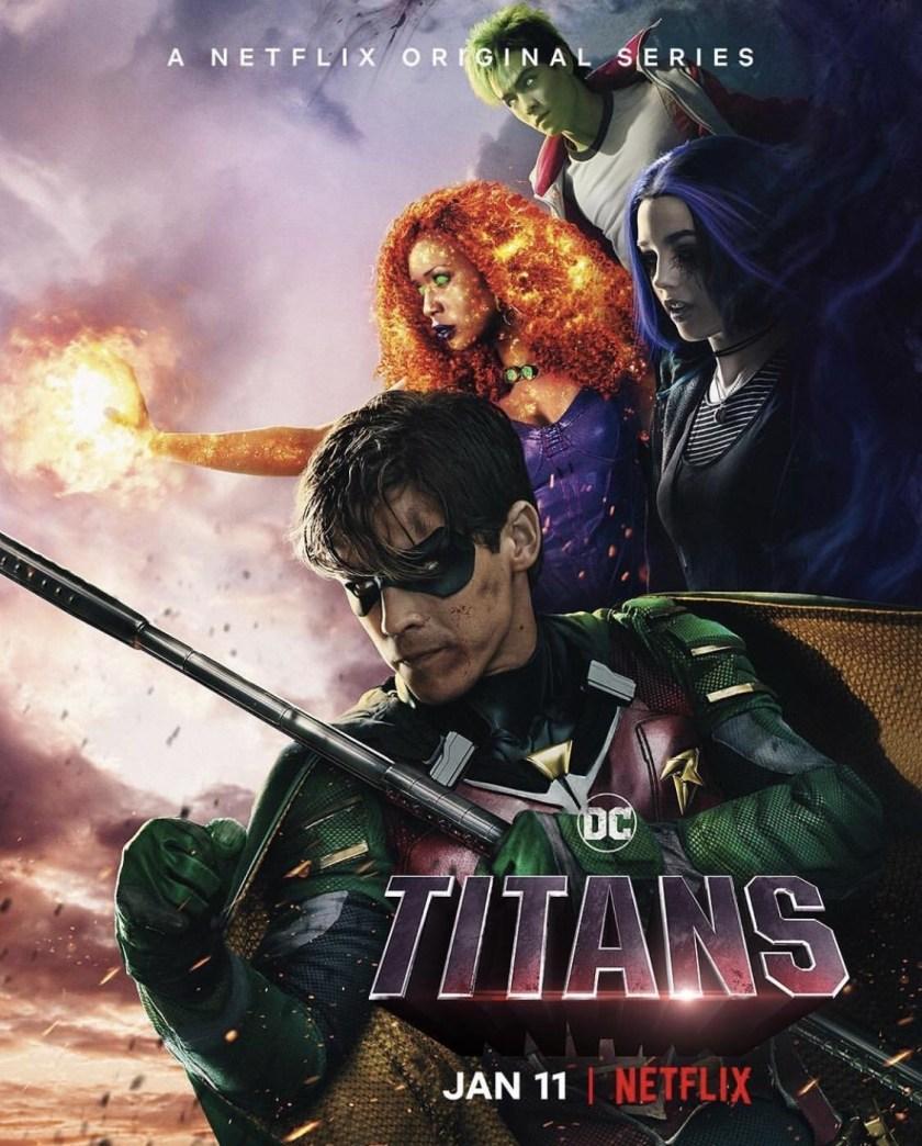 Póster de Titans en Netflix. Imagen: impawards.com