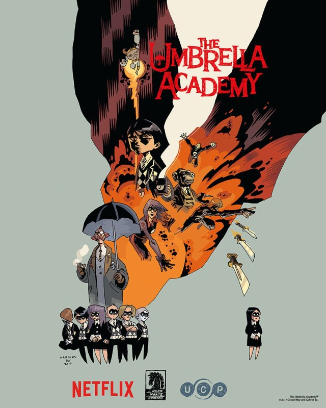 Teaser poster de The Umbrella Academy. Imagen: impawards.com