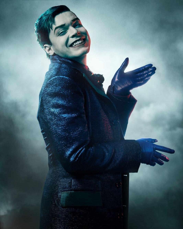 Jerome Valeska (Cameron Monaghan) en la temporada 5 de Gotham. Imagen: pinterest.com