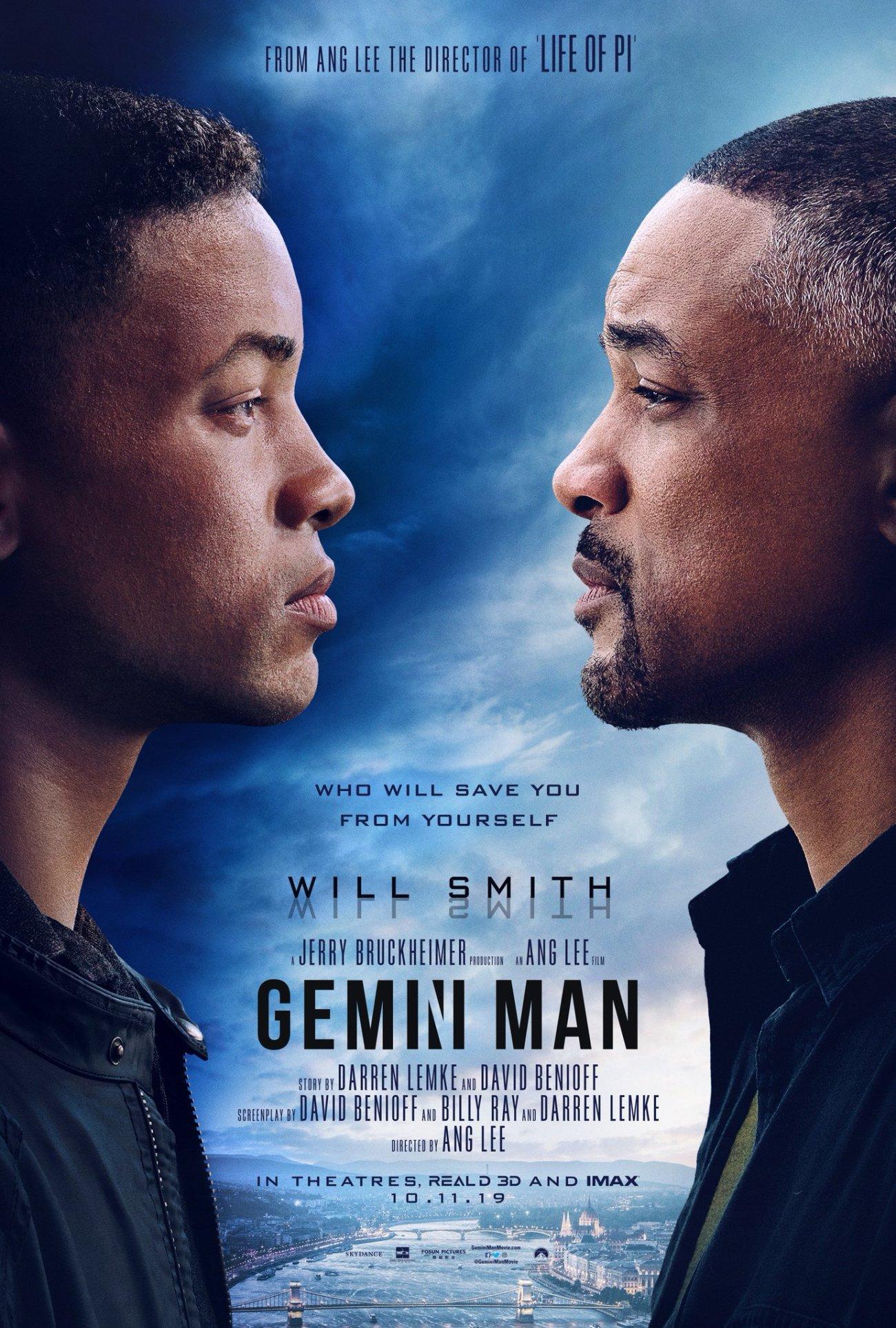 Póster de Gemini Man (2019). Imagen: Gemini Man Twitter (@GeminiManMovie).