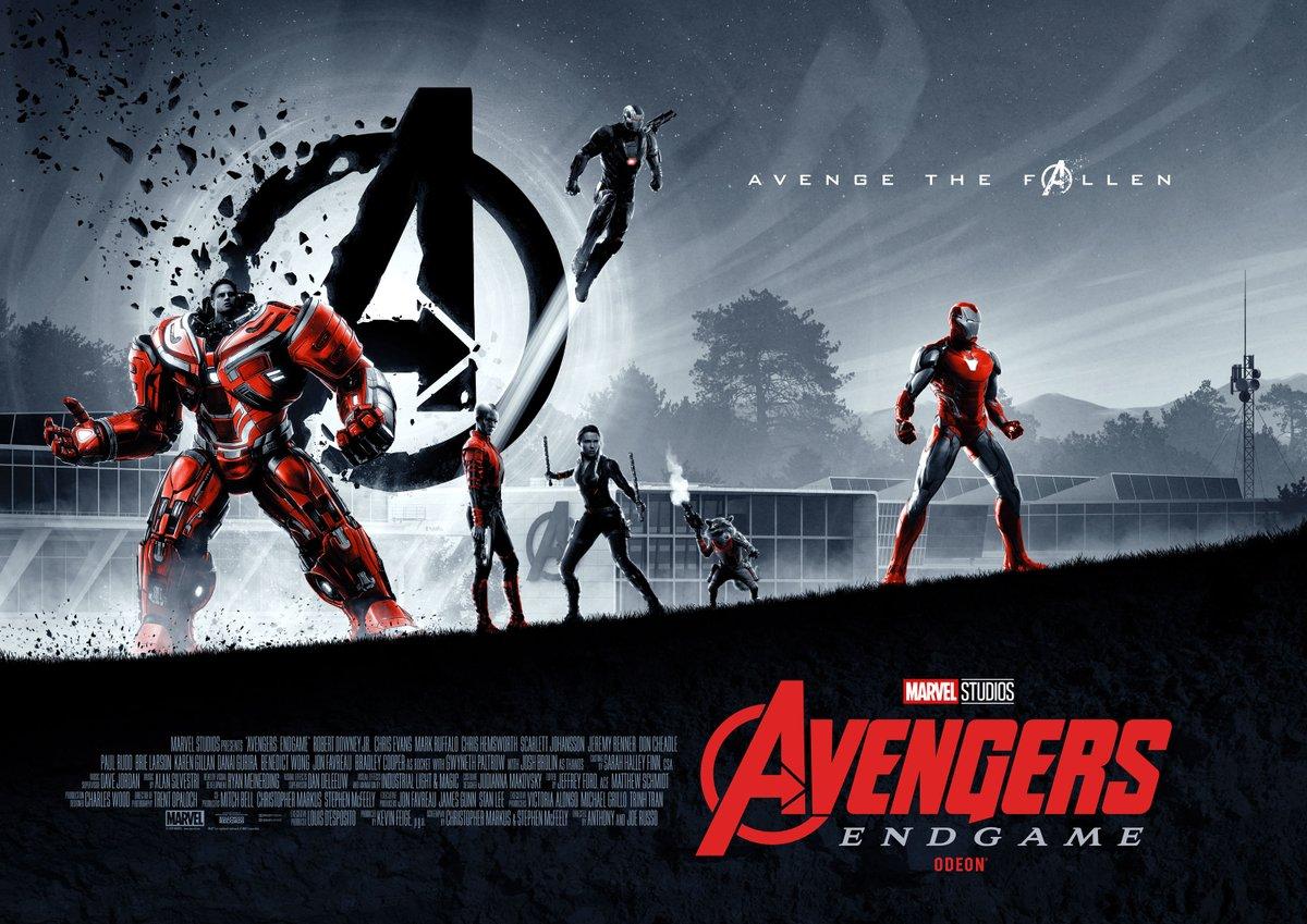 Póster de Avengers: Endgame (2019). Imagen: Matt Ferguson Twitter (@Cakes_Comics).