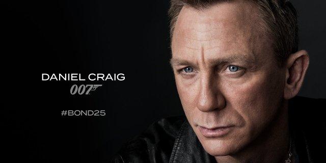 Daniel Craig es el Agente 007 en Bond 25 (2020). Imagen: James Bond Twitter (@007).