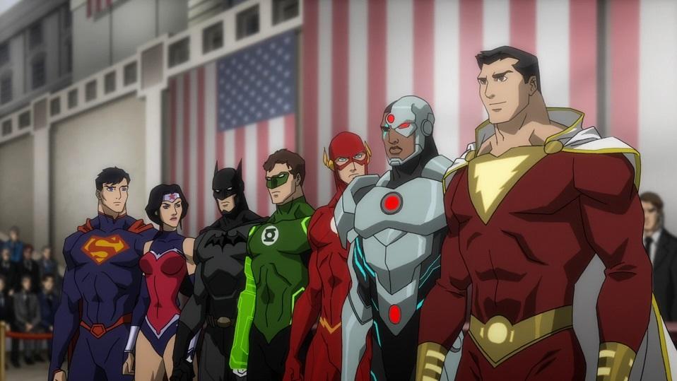 Wonder Woman y Shazam en la película animada Justice League: War (2014). Imagen: dc.fandom.com