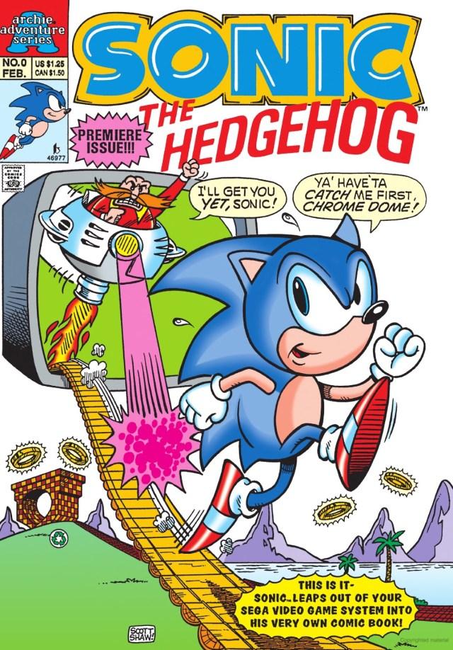 Portada de Sonic the Hedgehog #0 (febrero de 1993) por Archie Comics. Imagen: sonic.fandom.com
