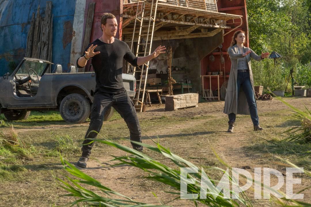 Magneto (Michael Fassbender) y Jean Grey (Sophie Turner) en Dark Phoenix (2019). Imagen: Empire Magazine
