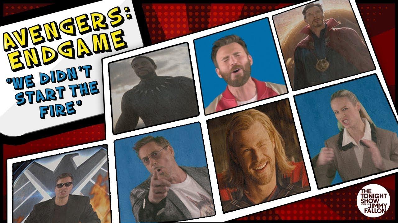 We Didn't Start the Fire por el elenco de Avengers: Endgame (2019) en The Tonight Show. Imagen: YouTube