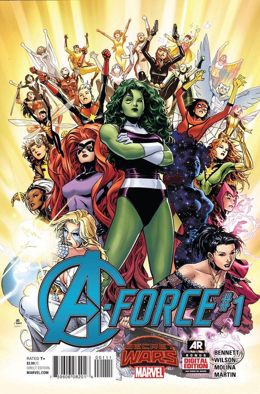 Portada de A-Force #1 (mayo de 2015). Imagen: marvel.fandom.com