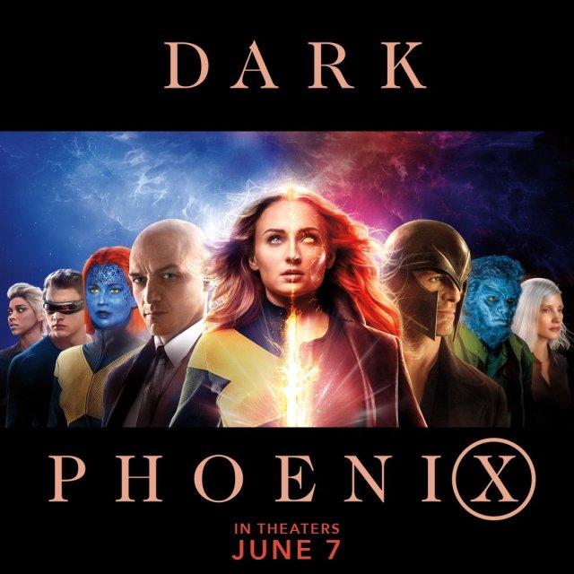 Arte promocional de Dark Phoenix (2019). Imagen: X-Men Movies Twitter (@XMenMovies).