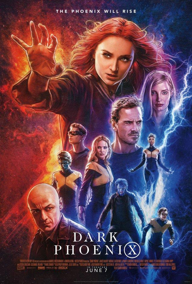 Póster de Dark Phoenix (2019). Imagen: X-Men Movies Twitter (@XMenMovies).