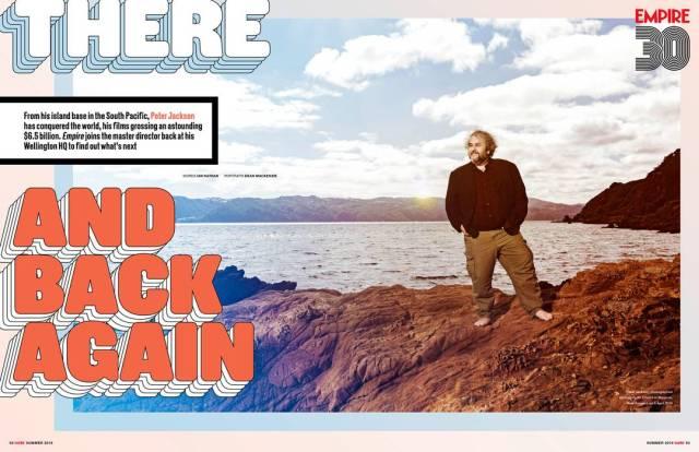 Peter Jackson en la revista Empire (verano de 2019). Imagen: Empire Magazine