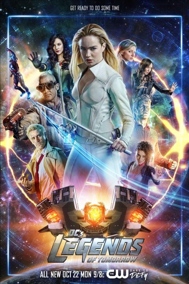 Póster de la temporada 4 de DC's Legends of Tomorrow. Imagen: impawards.com