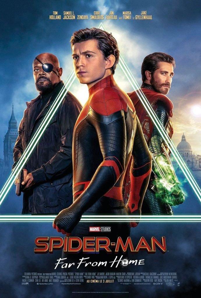 Póster francés de Spider-Man: Far From Home (2019). Imagen: ComicBook.com