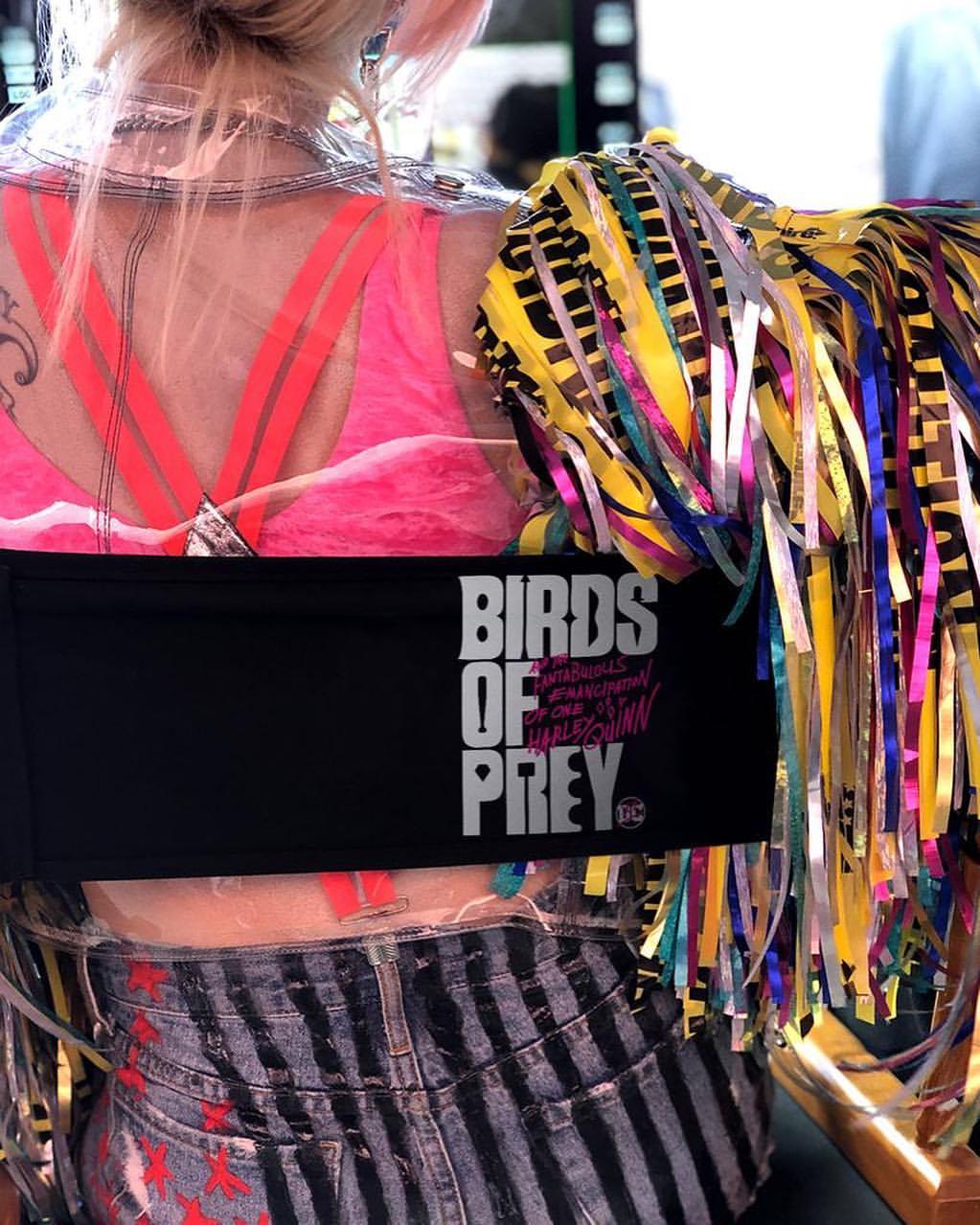 Margot Robbie como Harley Quinn en el set de Birds of Prey (2020). Imagen: Margot Robbie Instagram (@margotrobbie).