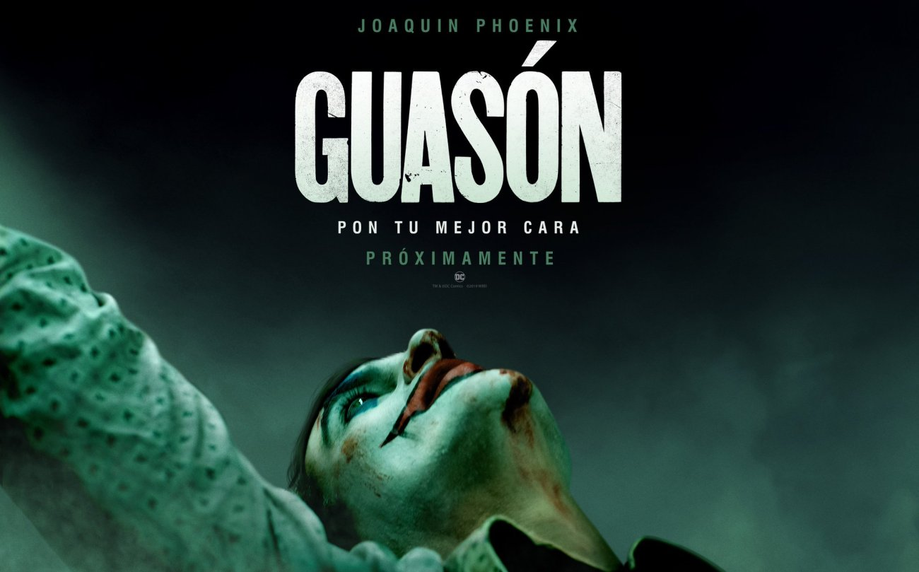 Póster en español de Joker (2019). Imagen: WB Pictures Latam Twitter (@WBPicturesLatam).