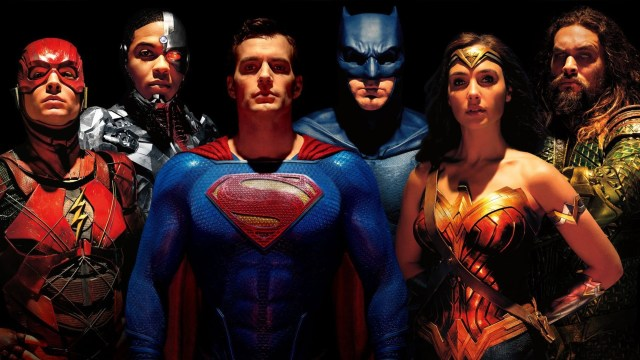 Flash (Ezra Miller), Cyborg (Ray Fisher), Superman (Henry Cavill), Batman (Ben Affleck), Wonder Woman (Gal Gadot) y Aquaman (Jason Momoa) en Justice League (2017). Imagen: fanart.tv