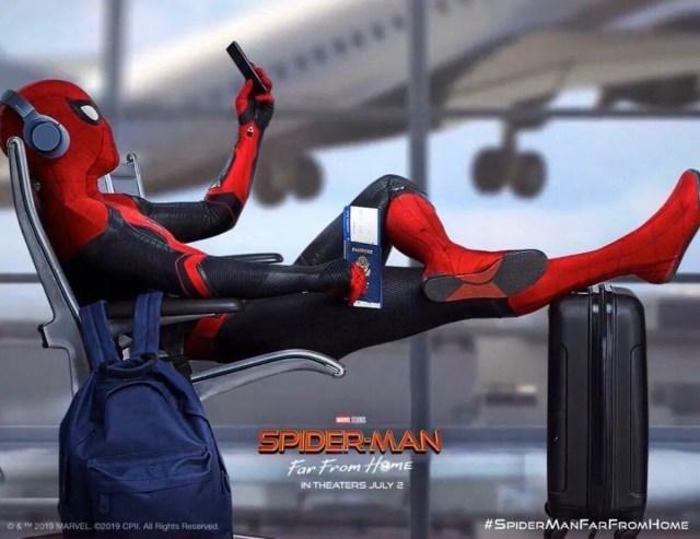 Póster de Spider-Man: Far From Home (2019). Imagen: SuperHeroHype