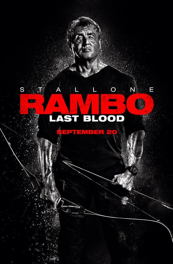 Póster de Rambo: Last Blood (2019). Imagen: Rambo: Last Blood Twitter (@RamboMovie).