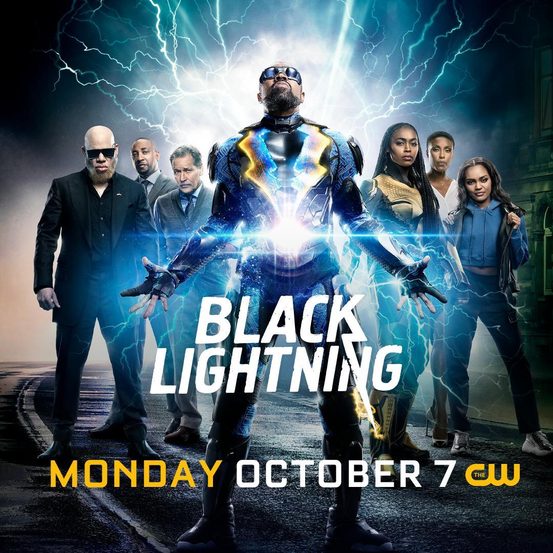 La temporada 3 de Black Lightning se adelantó al 7 de octubre. Imagen: Black Lightning Twitter (@blacklightning).