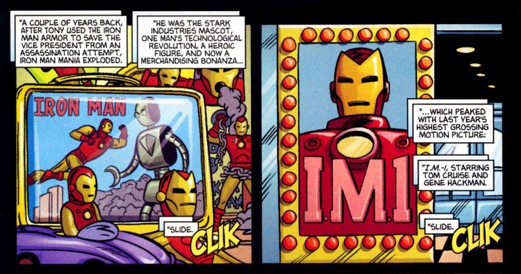 La película I.M.-1 en Ultimate Marvel Team-Up #4 (julio de 2001). Imagen: readcomiconline.to