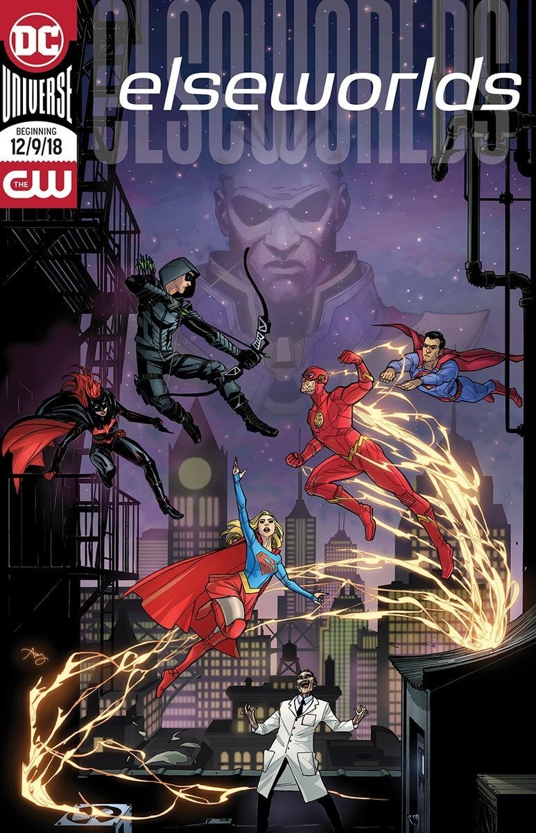 Póster promocional del crossover Elseworlds en The CW. Imagen: impawards.com