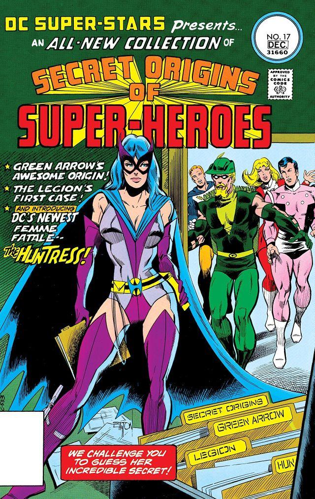 The Huntress en la portada de DC Super Stars #17 (noviembre-diciembre de 1977). Imagen: comiXology