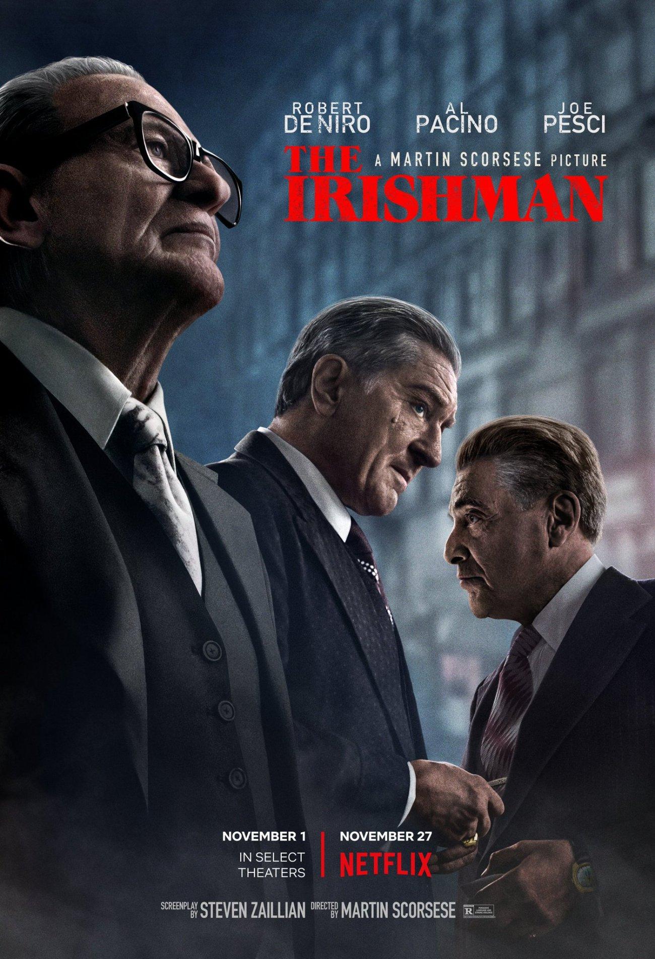 Póster de The Irishman (2019). Imagen: The Irishman Movie Twitter (@Irishman_Movie).
