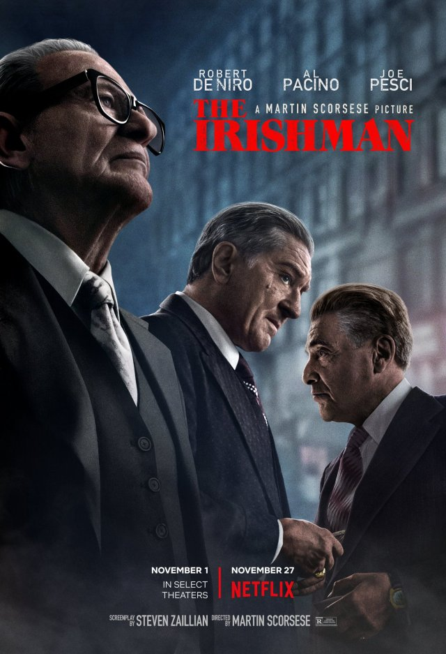 Póster de The Irishman (2019). Imagen: The Irishman Movie Twitter (@Irishman_Movie).
