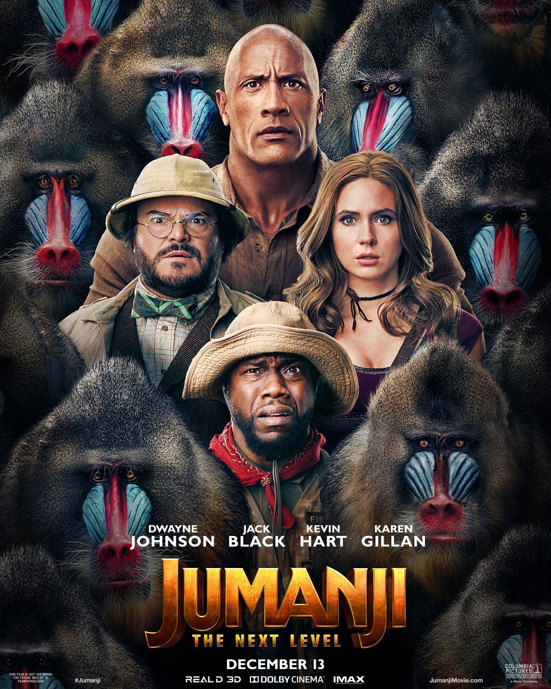 Póster de Jumanji: The Next Level (2019). Imagen: Jumanji: The Next Level Twitter (@jumanjimovie).