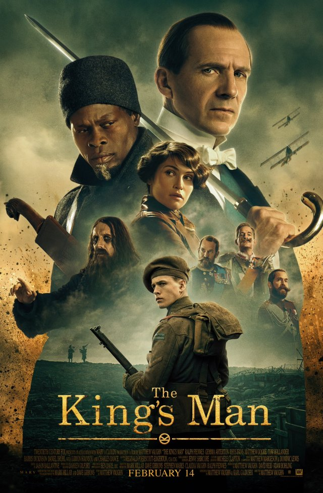 Póster de The King's Man (2020). Imagen: The King's Man Twitter (@KingsmanMovie).