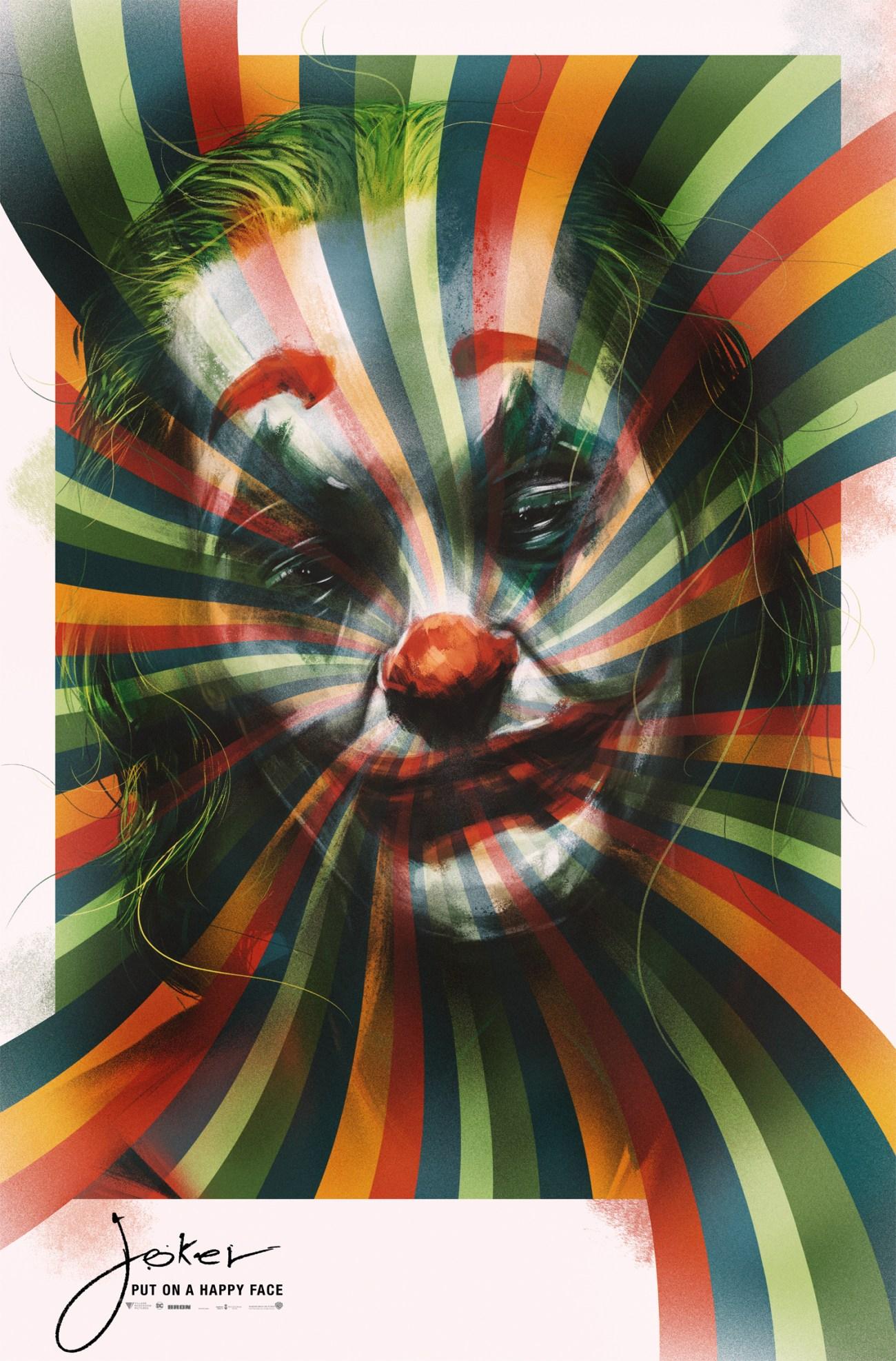 Póster de Joker (2019) por Luke Butland. Imagen: Collider.com