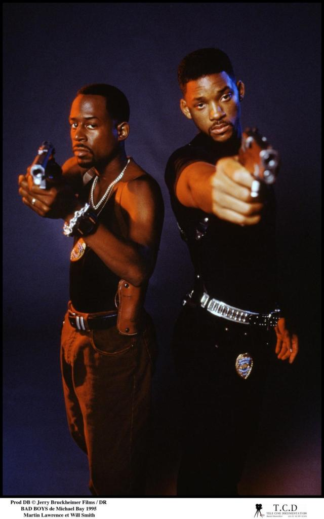 Martin Lawrence como Marcus Burnett y Will Smith como Mike Lowrey en Bad Boys (1995). Imagen: melty.fr