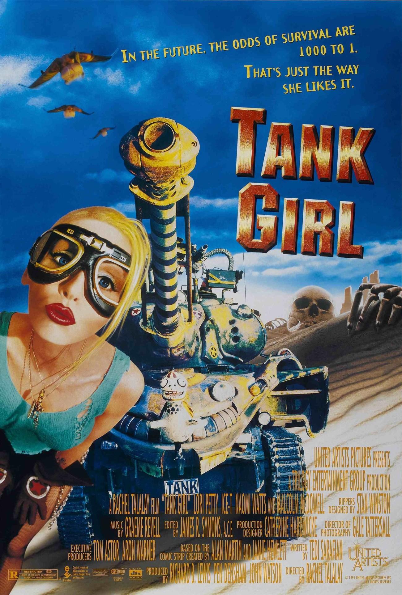 Póster de Tank Girl (1995). Imagen: impawards.com