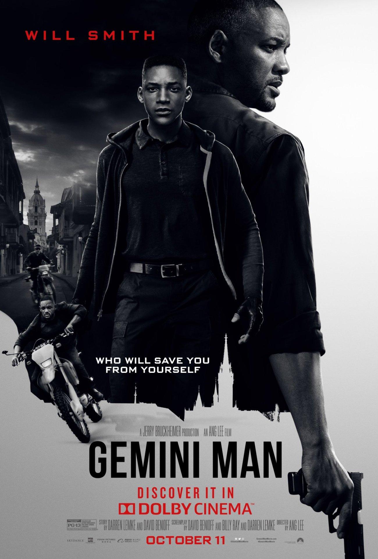 Póster Dolby Cinema de Gemini Man (2019). Imagen: Dolby Cinema Twitter (@DolbyCinema).