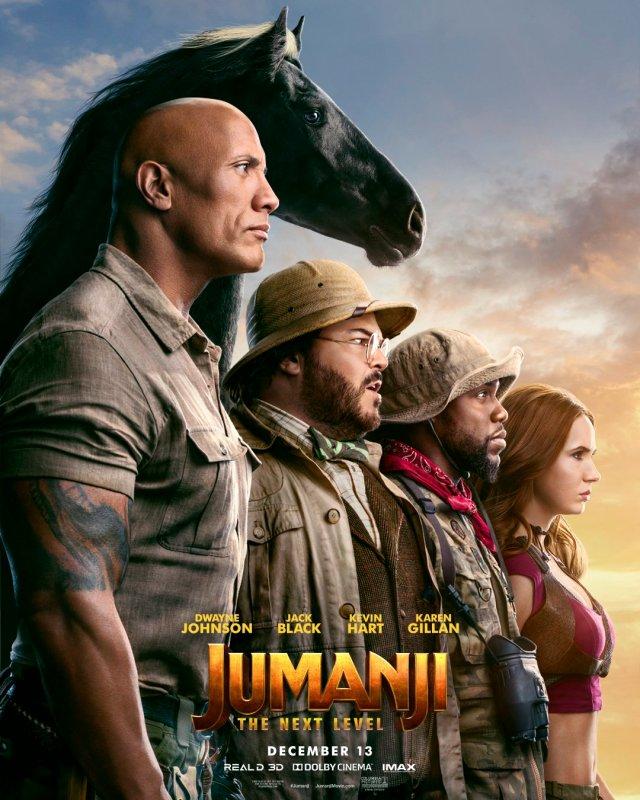 Póster de Jumanji: The Next Level (2019): Imagen: Jumanji: The Next Level Twitter (@jumanjimovie).