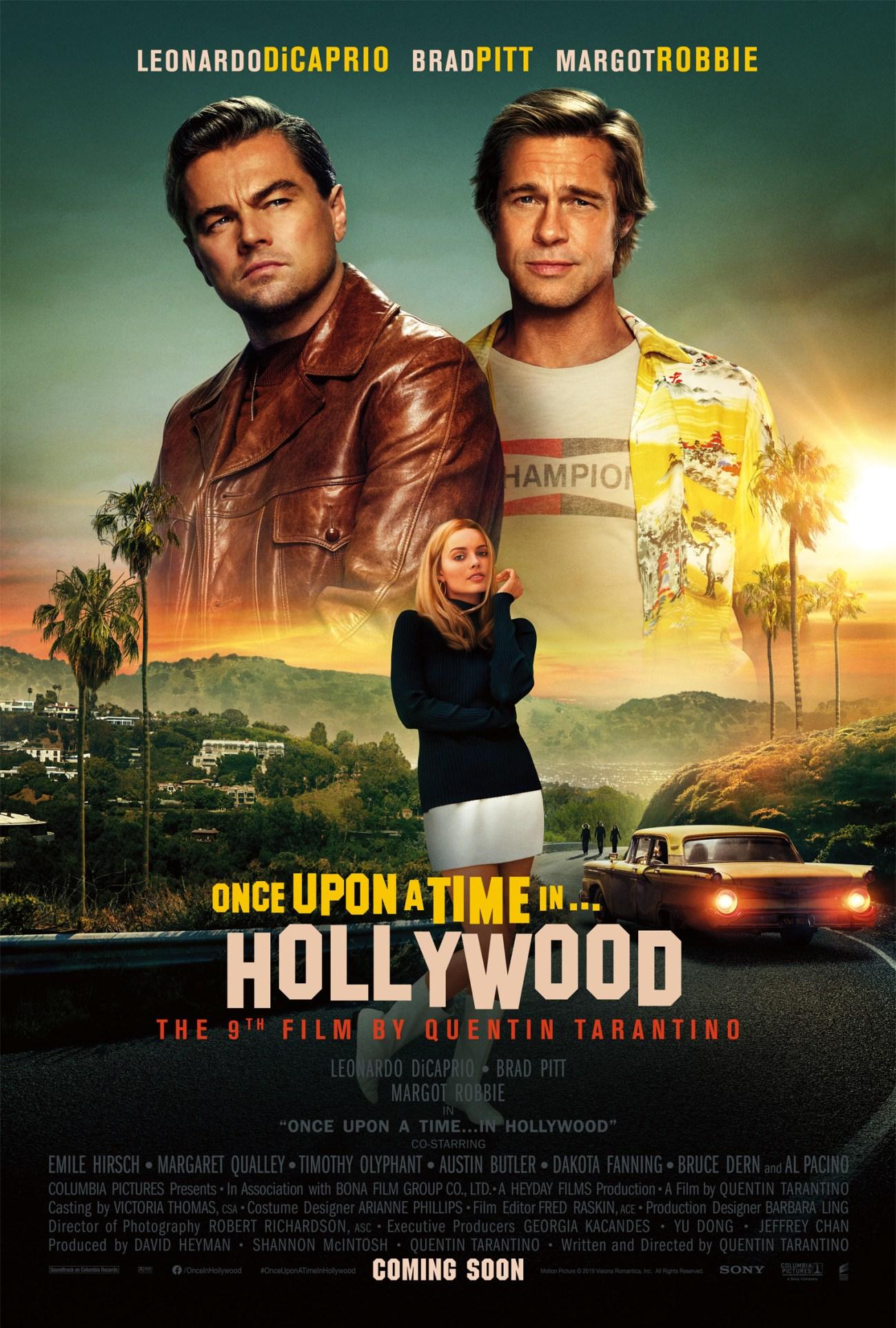 Póster de Once Upon a Time in Hollywood (2019). Imagen: impawards.com