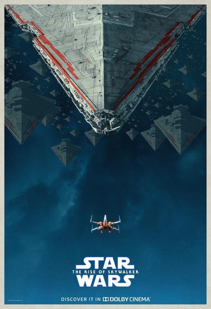 Póster Dolby Cinema de Star Wars: The Rise of Skywalker (2019). Imagen: Star Wars Twitter (@starwars).