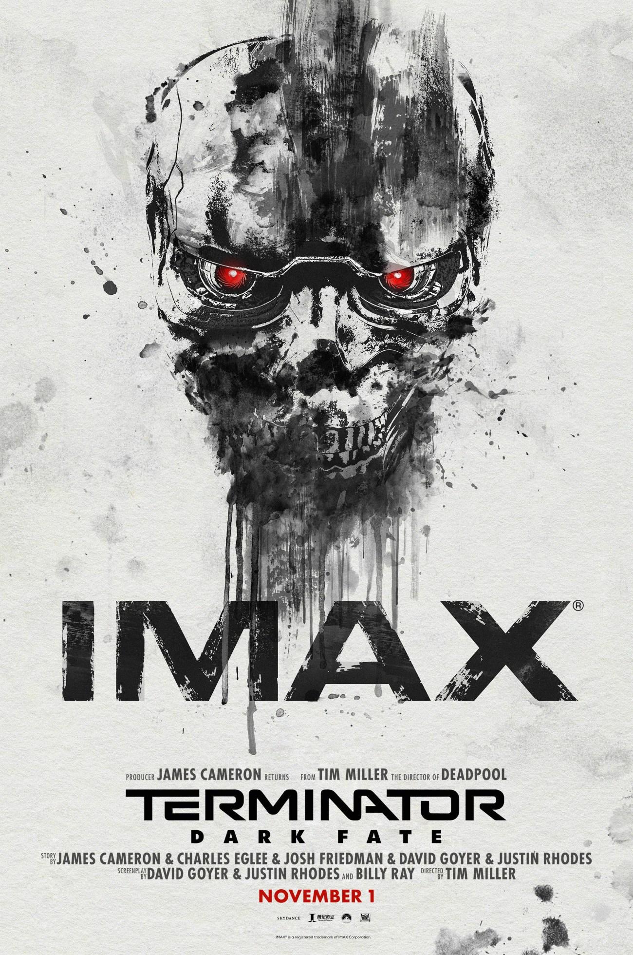 Póster IMAX de Terminator: Dark Fate (2019). Imagen: impawards.com