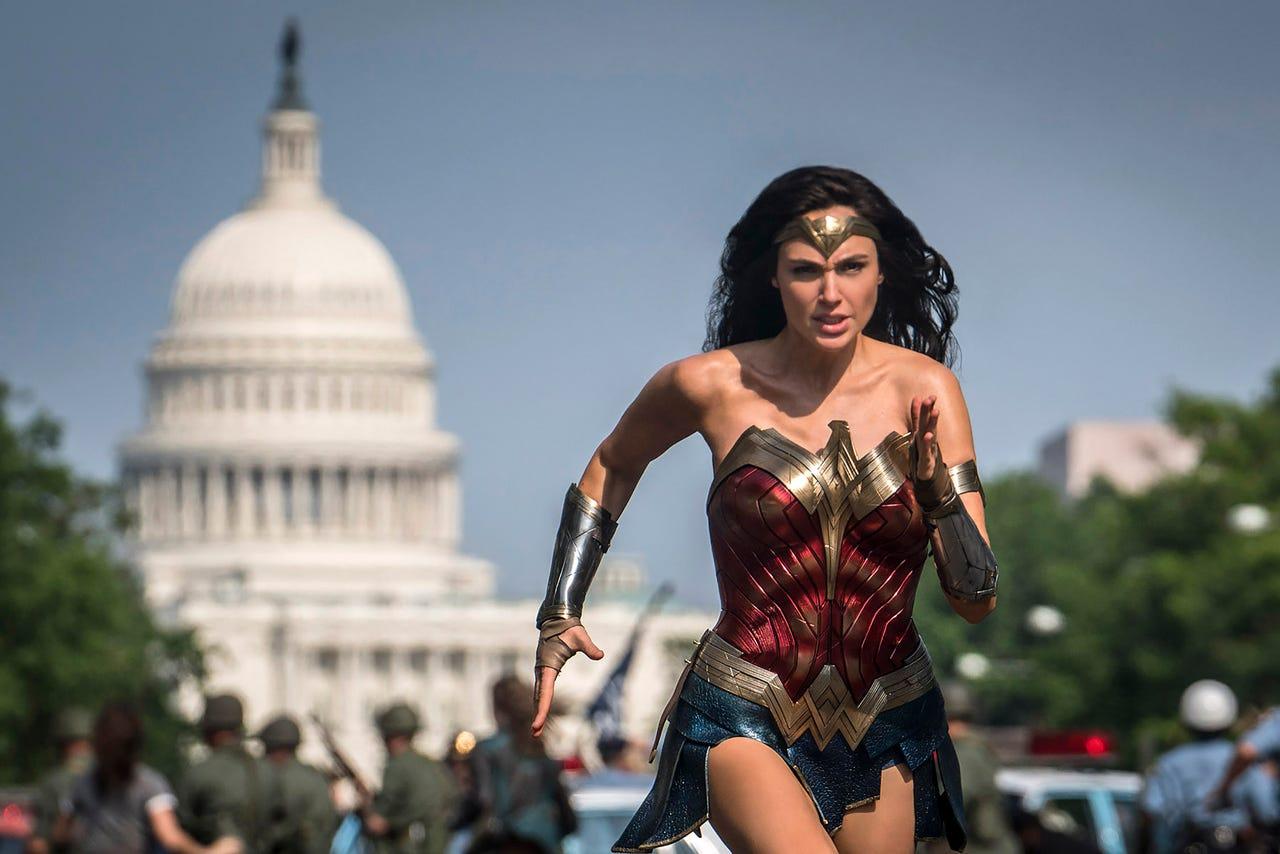 Gal Gadot como Wonder Woman en Wonder Woman 1984 (2020). Imagen: Clay Enos/USA Today