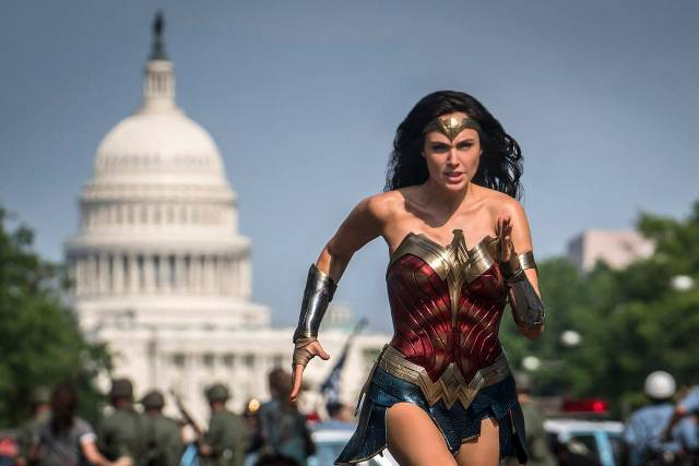 Gal Gadot como Wonder Woman en Wonder Woman 1984 (2020). Imagen: Clay Enos/USA Today