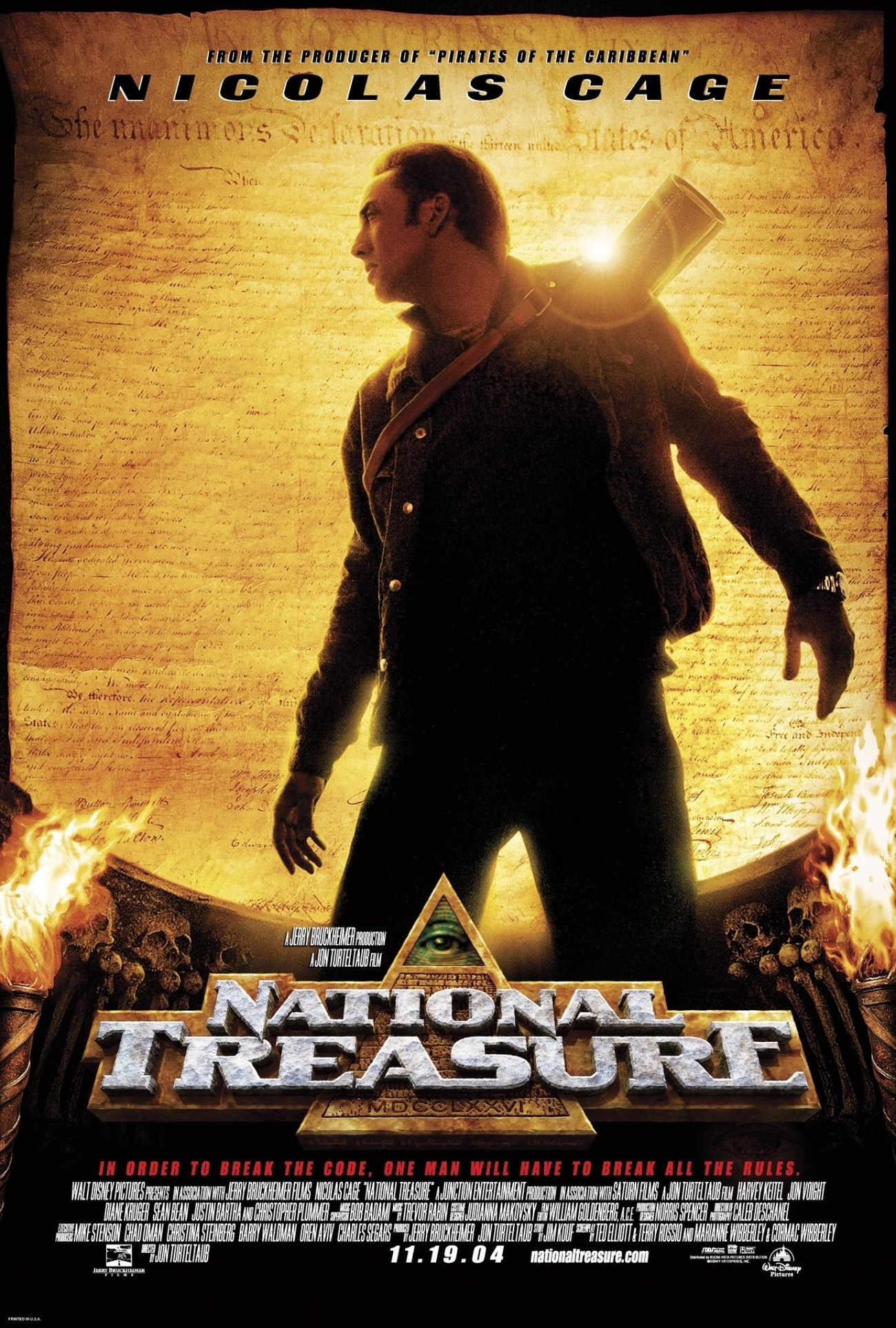 Póster de National Treasure (2004). Imagen: impawards.com