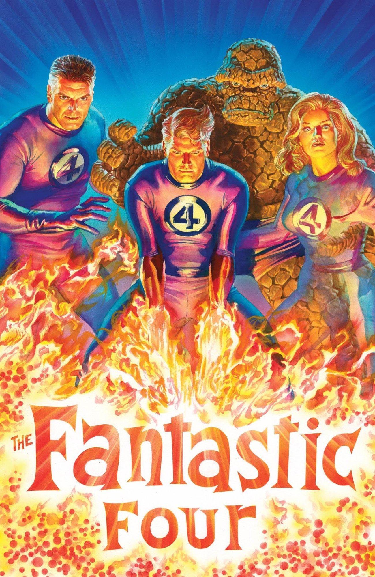 The Fantastic Four por el artista Alex Ross. Imagen: Alex Ross Twitter (@thealexrossart).