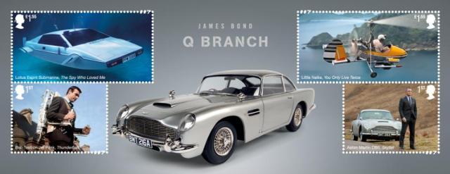 Vehículos de la Q Branch: Lotus Esprit S1, The Little Nellie, Bell-Textron Jet Pack, Aston Martin DB5. Imagen: 007 Twitter (@007).