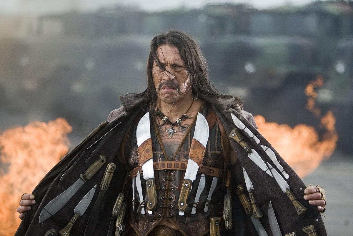 Machete es el personaje interpretado por Danny Trejo que apareció originalmente en Spy Kids (2001) de Robert Rodríguez. Imagen: Dimension/WC