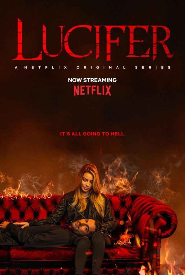Póster de la temporada 4 de Lucifer en Netflix. Imagen: impawards.com