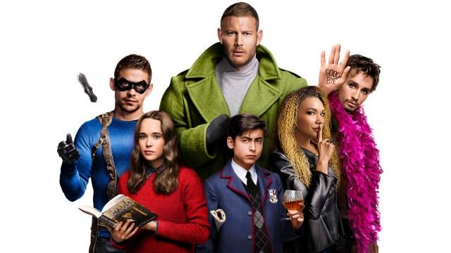 Arte promocional de la temporada 1 de The Umbrella Academy en Netflix. Imagen: fanart.tv