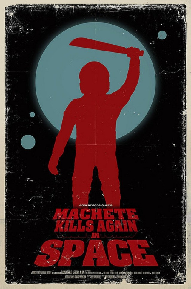 Póster de Machete Kills Again… in Space. Imagen: Danny Trejo Twitter (@officialDannyT).